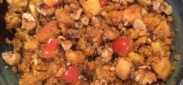 Apple Spice Cauliflower Rice